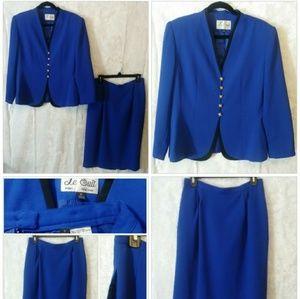 Le Suit Blue Skirt Set (Jacket & Skirt)
